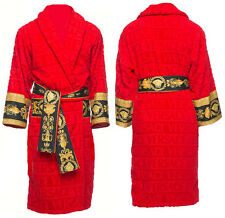 Versace Baroque Medusa Bathrobe  - Red - Size L