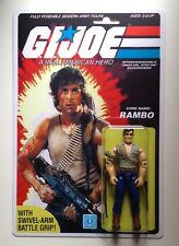 Custom Made Rambo 3 3/4 GI Joe vintage style ARAH action figure MOC