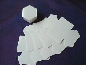 125 x IVORY HEXAGONAL FAVOUR/GIFT/BABY SHOWER/PLACE SETTING BOXES - DIY