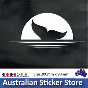 WHALE TAIL SUNSET sticker decal for car , laptop, fridge, window