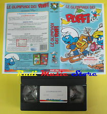 VHS film LE OLIMPIADI DEI PUFFI 1998 animazione CINEHOLLYWOOD 7482 (F24) no dvd