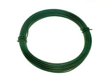 box  Of 10 Green Plastic Coated Garden Fence Wire 2 Mm X 1.4 Mm X 15 Metres