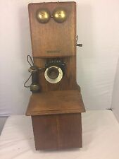 Stromberg Carlson Oak Doublebox Antique Telephone Magneto Rings 1900 RochesterNY