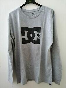 Maglietta ragazzo DC Shoes T-shirt manica lunga Taglia M grigio chiaro in cotone