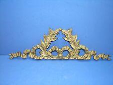 "16,53"" Antique French Bronze Pediment Louis XVI Style"