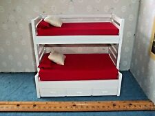 BUNK BEDS WITH TRUNDLE - SLEEPS 5  - DOLL HOUSE  MINIATURE
