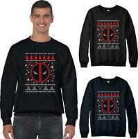 Deadpool Christmas Jumper, Superhero Marvel Comics Festive Xmas Santa Gift Top