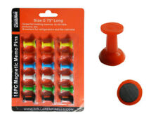 18 Plastic Assorted Color Small Magnetic Push Pins, Strong  Magnets !!!