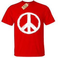 Niño Niña Símbolo de Paz Camiseta Letrero Mundo Top Moderno Natural Love