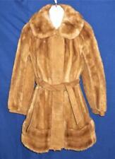 Vintage Ladies LILLI ANN Paris Faux Fur & Suede Winter Coat Size Small, England