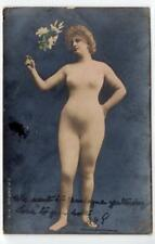 Vintage French nude in body stocking postcard (different) (C41025)