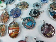 *US Seller*wholesale lot of 10 lampwork glass pendants scarf jewelry necklace