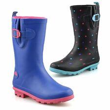 Girls Kids Waterproof Wellies Warm Winter Rain Snow Wellingtons Boots Shoes Size
