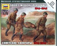 Zvezda 1/72 6152 WWII Soviet Red Army Medical Personnel 1941-1942 (4 Figures)