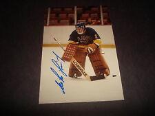 Mike Liut 1984–85 St. Louis Blues Whalers Signed 3.5X5 Photo Autograph M7