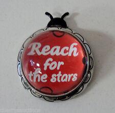 L Reach for stars LUCKY LADYBUG CHARM FIGURINE Inspirational ganz Message