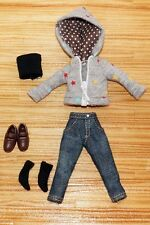Jean and Jacket suit for 1/12 Doll and Figure (Doll Cloth)
