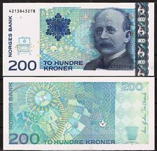 NORUEGA NORWAY - 200 KRONER 2006 Pick 50b    SC  UNC