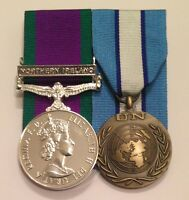 Court Mounted Full Size Medals, UN Cyprus, GSM Northern Ireland, CSM, Ribbon
