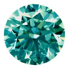 Round Cut Loose Real Moissanite 4 Ring/Pendant 4.27 ct 11.01 Mm Vvs1 Blue Color