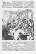 1870 FRANCO GERMAN WAR Discussing the War in a PARIS CAFE Soldiers  (125)