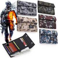 For Men's Tactical Army ID Credit Card Wallet Holder Purse Camo Sports Pocket