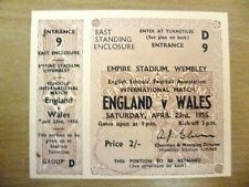 Ticket- 1955 English School's International Match- ENGLAND v WALES, 23 April