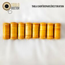 More details for 8 yellow tabla tuning blocks dowels dayan gattis set