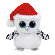 "Ty Beanie Boos 6"" 15cm Tinsel Snowy Owl Plush Stuffed Animal Collectible Bird Do"
