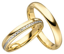 2x JC Trauringe Eheringe 333 Gold Gelbgold 8 Karat inkl.Gravur&Etui JC005