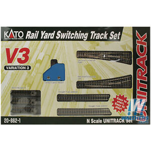 NEW Kato Rail Yard Switching Track Set Variation 3 Unitrack N Scale FREE US SHIP