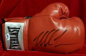MIKE TYSON Signed Boxing Everlast Glove Boxing Legend PSA HOF Autograph Auto vtg