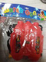 Kids Water Gun Pump Action Soaker Pistol Blaster Backpack Game Summer Toy Gift