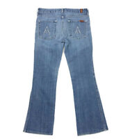 7 For All Mankind A Pocket Jeans 27 Womens Bootcut Distressed Light Wash 7FAM