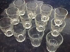 12 Shot Glasses Glass Barware Drink Liquor Whiskey Tequila Aguardiente Doz 1.5oz