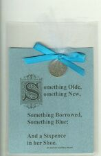 "SIXPENCE WEDDING GIFT! GENUINE COIN. ""And a Sixpence in her Shoe."""