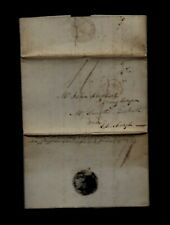 1802 Gb stampless letter Written Aboard Hms Revolutionnaire Ship - Terrific Find