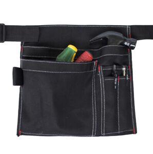 Multi Pocket Tool Pouch Builder Hammer Screwdriver Belt Apron Carpenter Work Bag