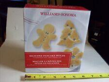Williams -Sonoma Silicone Pancake Molds Set Of 3  New