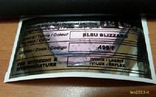 Lancia thema adesivo colore ppg bleu blizzard 499/F con difetto