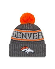 "c8f92e833 Denver Broncos New Era 2018 NFL Sideline Sport Knit Hat  €"" Graphite"