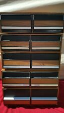 VHS movie storage box set of 5 plastic/ black 2 drawer container slots stackable
