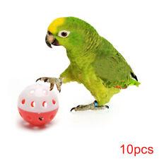 New listing 10 Pcs Bell Ball Pet Hollow Bird Toys Parakeet Parrot Chew Cage Toys