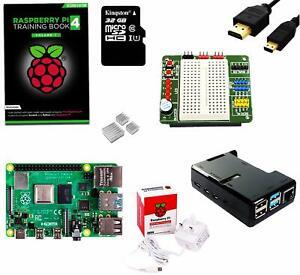 SB Raspberry Pi 4 Starter Kit with BreadPi & Training Book - Raspberry Pi 4 Kit