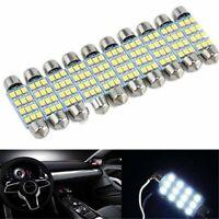 10x 41mm White 3528 12 SMD LED Car Interior Festoon Dome Bulb Lamp Light 12V