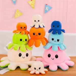 Giant 50cm Reversable Octopus Big Mood Happy Sad Plush Doll Adult Kids Toy Large