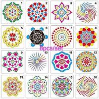 album dekorative scrapbooking mandala - schichtung schablonen bild - vorlage