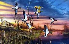 Jim Hansel Final Approach Duck Hunting Signed Numbered Print 28 x 19