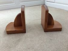 Solid wood book ends in great condition