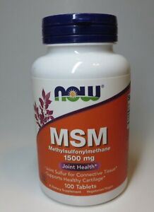 Now Foods M.S.M 1500Mg  100 Tabs